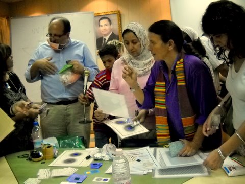 Adhi teaching Radiesthesia in Egypt